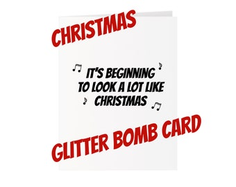 Christmas Glitter Bomb Card - It's beginning to look