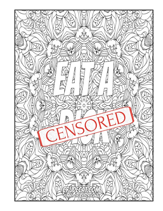 Bulk Adult Coloring Book With Eleven Images | Swearing Coloring Book | Art  Therapy | Mandala Coloring