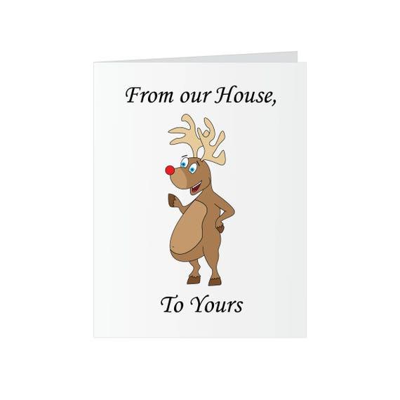 Eat a Dick Rudolf - Christmas Greeting Card