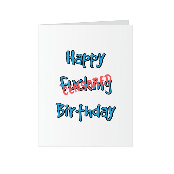 Happy F*cking Birthday Card - Pop Up Middle Finger