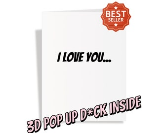 Huge Penis Popup Card - Valentines Day Gift for Him