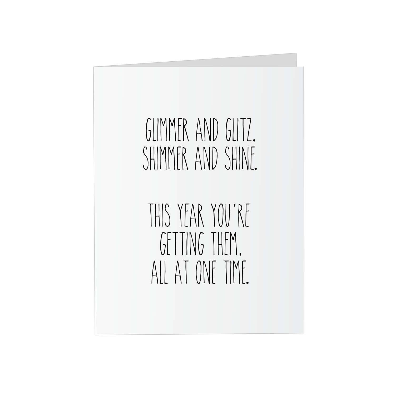 Glitter Bomb Card Prank Greeting Birthday Funny Coworker Friend Adult