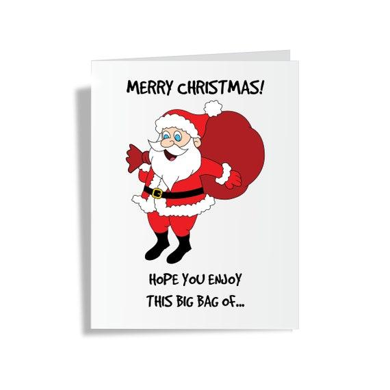 Santa Bag of Dicks - Christmas Greeting Card