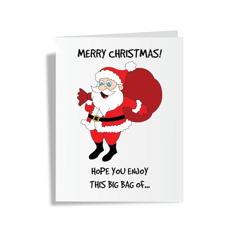Merry Christmas Card / Adult Christmas Card / Funny Xmas Card image 0