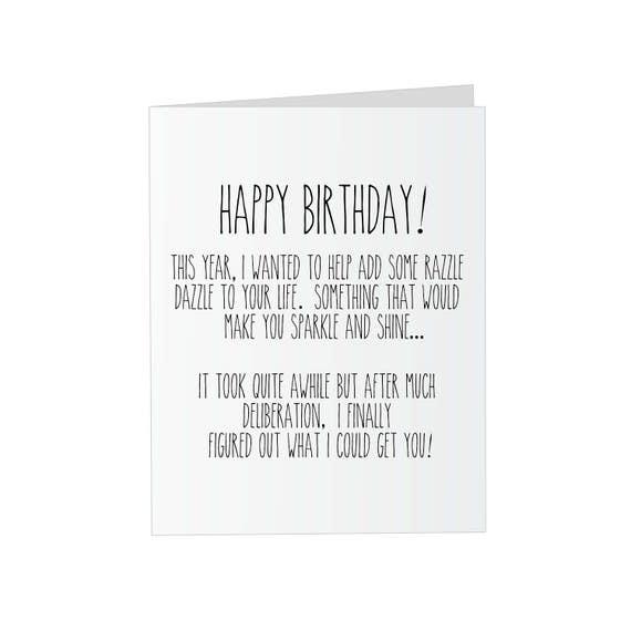 Prank Glitter Birthday Card Sparkle Glitter Bomb