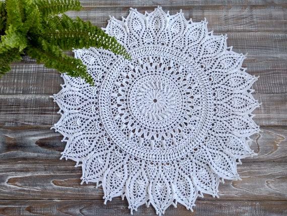 boho decor long doily Crocheted Doily