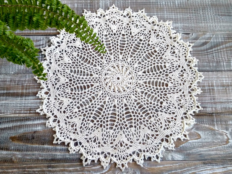 Crochet Doily 60th Birthday Gift Table Round Lace Guest Room Etsy