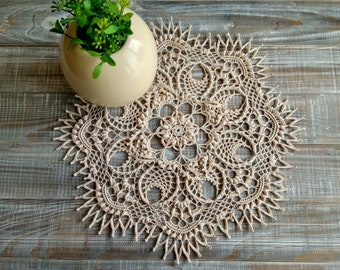 Crochet doily Summer outdoors Lace doily Rustic lace doily Table doily crochet Boho Wedding doily Housewarming doily Housewares doily