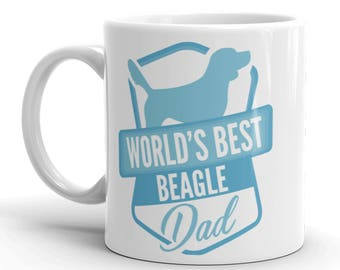 World's Best Beagle Dad Mug - Funny Cute Beagle Gift - Gift For Husband / Dad / Him / Boyfriend - Dog Lover - Coffee Mug