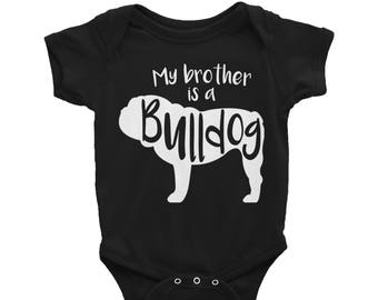 316c9e41b Baby Onesie 'My Brother Is A Bulldog' - 3 colors! - Funny Cute English  Bulldog - Baby Clothing Gift Baby Shower - Dog Lover