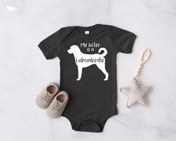 Labradoodle Dog Classic Baby Onesie Bodysuit,Baby Shower Gift