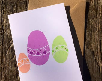 Easter Egg Card - Happy Easter Card - Easter Card - Easter Eggs - A6 Card - Easter Greetings - Cute Card