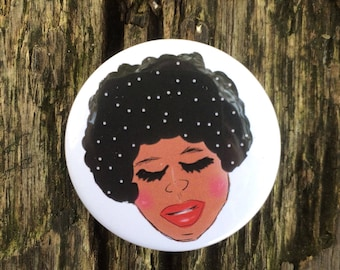 Afro Badge - Afro Pin - Afro Gift - Chill Badge - Mindfulness Badge - Button Badge - Positive Pin - Natural Hair - Relax Pin - 38mm