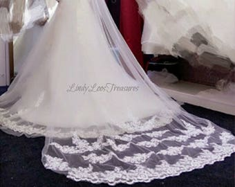 Lace wedding veil, Cathedral veil lace, Cathedral veil floral lace, Lace cathedral veil, Cathedral Lace Veil, Wedding cathedral veil