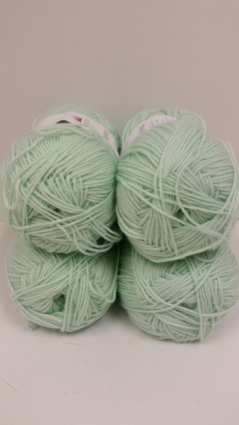 4 Skeins Available 3.5oz100g 361yds330m Dye Lot 756 Soft Himalaya Wellness Yarn 1 Skein Color B Mint Green 2 Sport Yarn Type