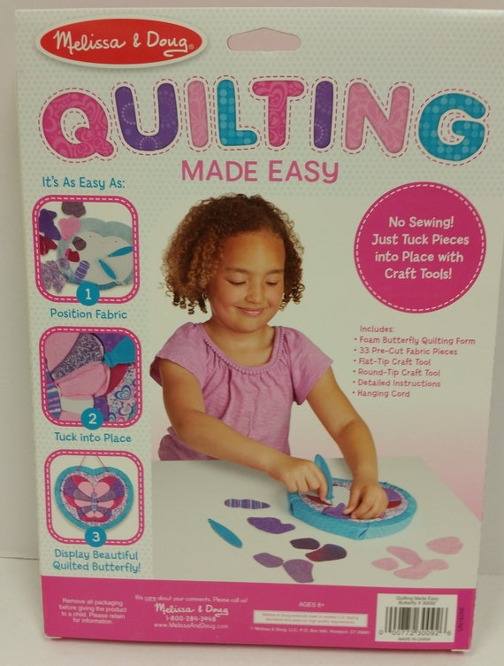 No Sew Quilting Made Easy Butterfly Kit By Melissa Doug For Ages 6