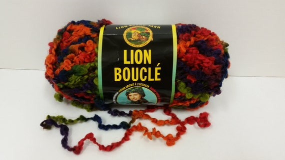 Lion Brand Lion Boucle Yarn ~ Licorice #214 ~ 57 Yards52 Meters  ~ #6 Super Bulky ~ 2.5 Oz70 Grams