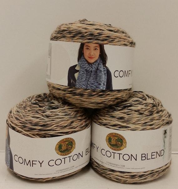 lion brand comfy cotton blend