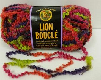1 Skein Lion Brand Lion Boucle' Yarn, color Gelato, Lot 29359, 2.5oz/70g, 57yds/52m
