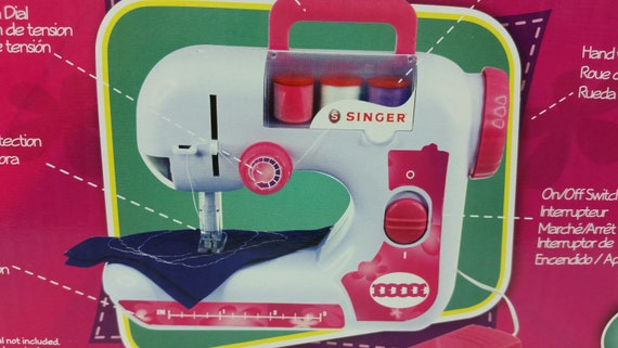 Singer EZ Stitch Toy Sewing Machine For Ages 40 Etsy Mesmerizing Singer Ez Stitch Toy Sewing Machine