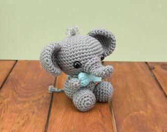 READY TO SHIP - Crochet Elephant