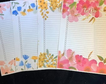 Floral To Do List for Daily Organization | Flower To Do List | Flower Task List | Digital Flower To Do List | INSTANT DOWNLOAD
