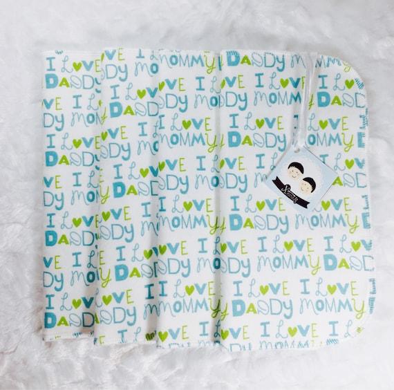 Laver tissu, cadeau bébé ahower, lavage linge lot de 4, mouchoir en tissu