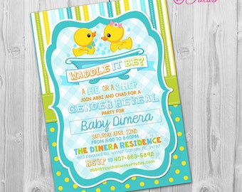 gender reveal invitation mickey or minnie mouse team pink or etsy