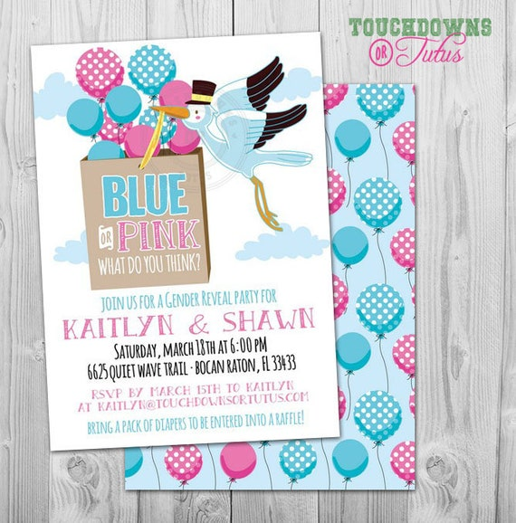 graphic about Printable Gender Reveal Invitations titled Stork Gender Clarify Invitation Printable Stork Kid Shower Invitation Dual Boy and Lady Kid Make clear Get together Invitation, Kid Demonstrate Plans