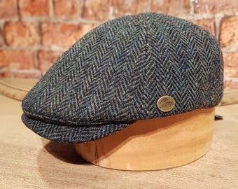 d29ca4dee2d3e Tweels Country Collection   HUDSON   Mens   Ladies   Herringbone Green    British Harris Tweed   Flatcap Ivy Cap Hat   Olney   All Sizes