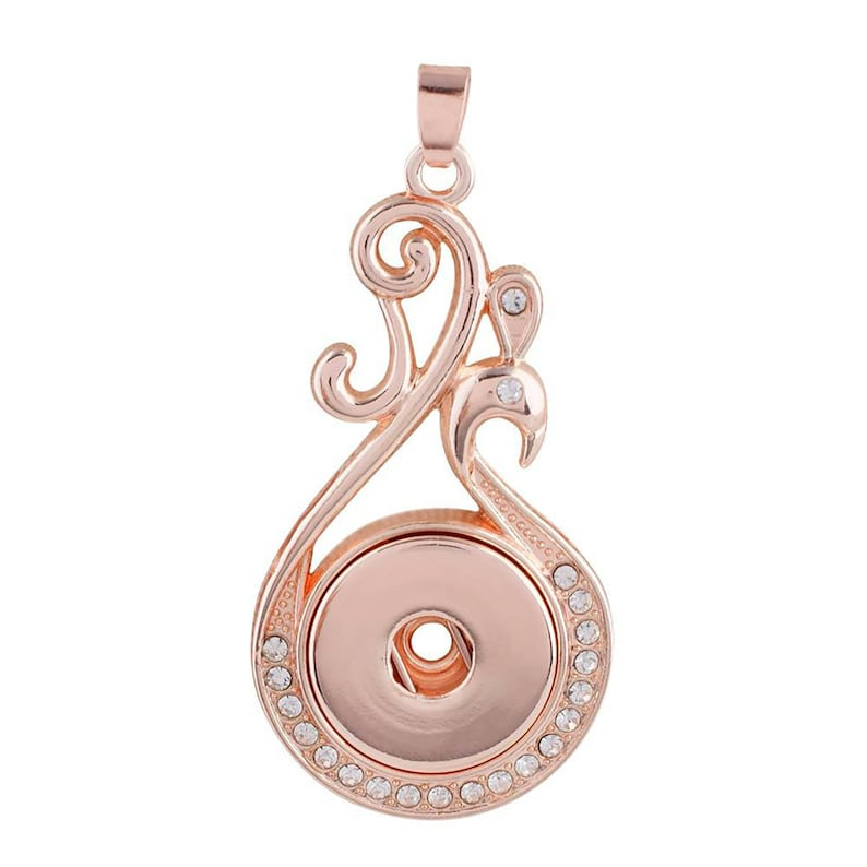 Snap It Button Fits Ginger Snaps Style Jewelry Rose Gold