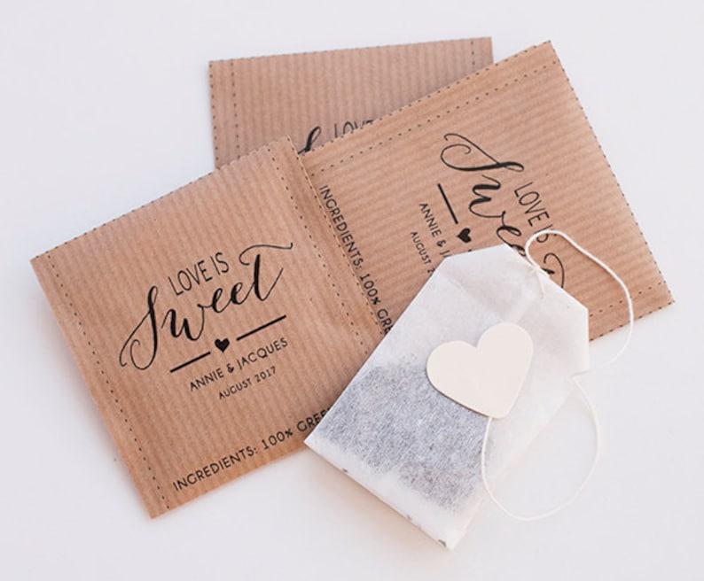 2919dc4e4 Bolsitas de te personalizadas Detalles de boda | Etsy