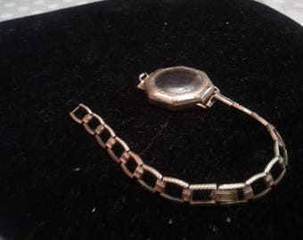 Vintage 12K GF Hadley Watch Bracelet Along With A Partial Watch Case, For Salvage/Restoration