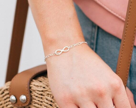 Infinity Bracelet, Sterling Silver - Karma Collection
