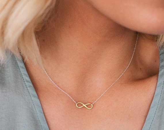 Infinity Necklace, Gold - Karma Collection