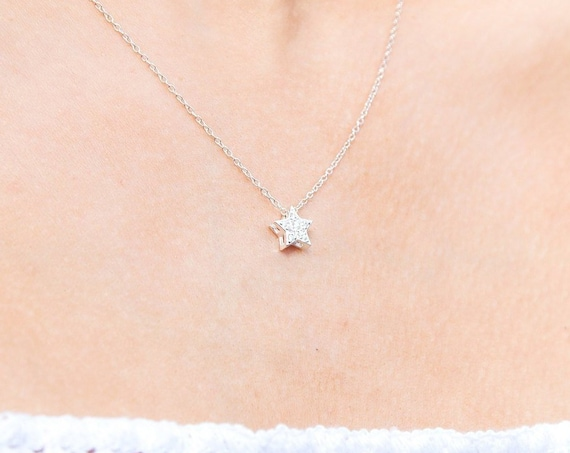 Star Necklace, Sterling Silver & Cubic Zirconia - Karma Collection