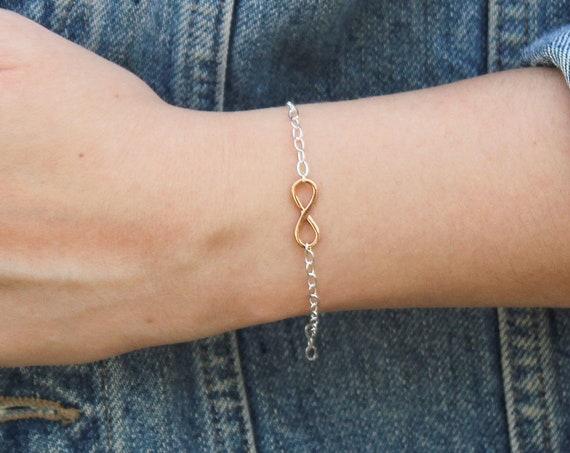 Infinity Bracelet, Rose Gold - Karma Collection
