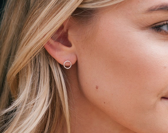 Halo Stud Earrings, Sterling Silver - Karma Collection