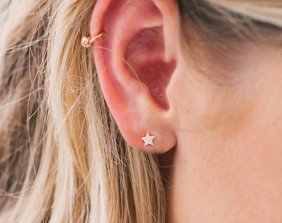 Star Earrings, Sterling Silver - Karma Collection