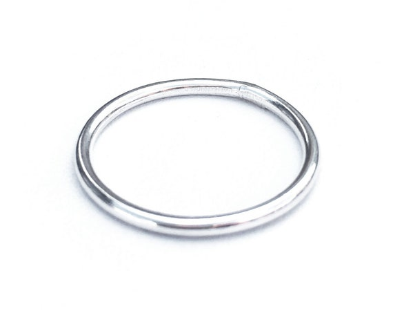 Essential Stacking Ring, Sterling Silver