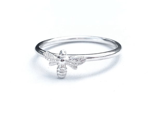Bee Ring, Sterling Silver - Nature Collection