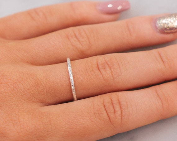 Sterling Silver Sparkle Stacking Ring