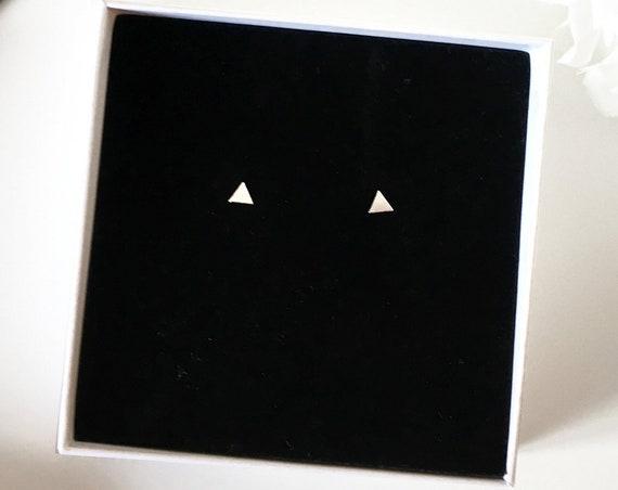Triangle Earrings, Sterling Silver