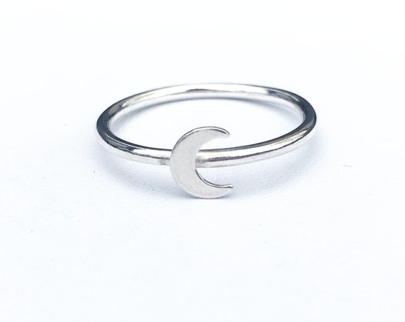 Moon Ring, Sterling Silver - Karma Collection