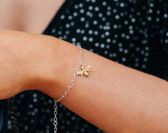 Bee Bracelet, Gold - Nature Collection