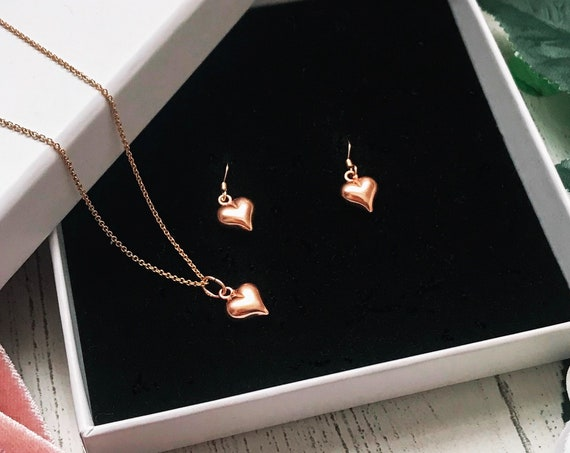 Heart Jewellery Gift Set, Rose Gold - Karma Collection