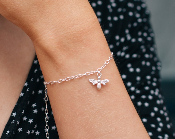 Bee Bracelet, Sterling Silver - Nature Collection