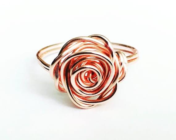 Rose Ring, Rose Gold - Rose Collection