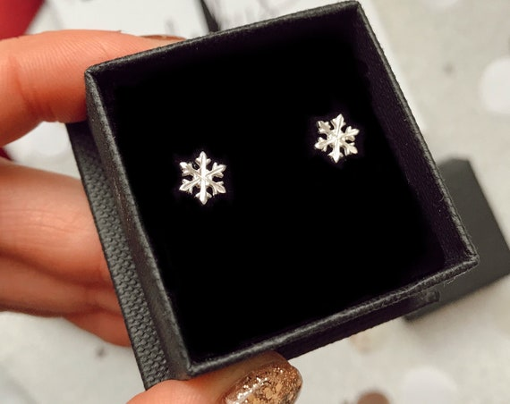 Snowflake Earrings, Sterling Silver - Karma Collection