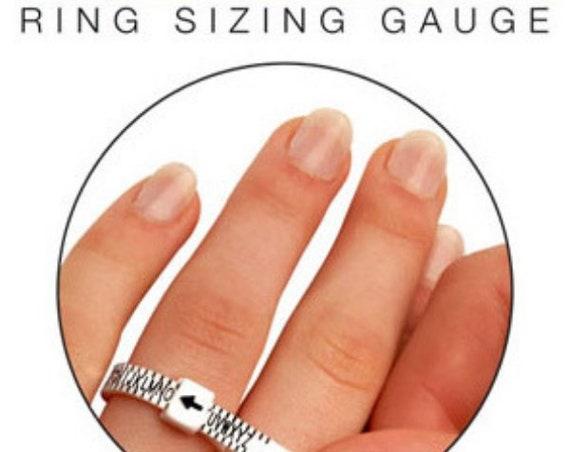 Adjustable UK Ring Size Gauge, Multisizer, Ring Measurement Guide, UK Ring Sizes